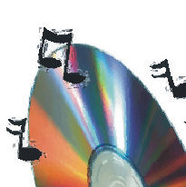 upper left quarter of cd image with musical notes around it